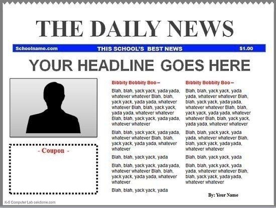 Blank Newspaper Template Google Docs
