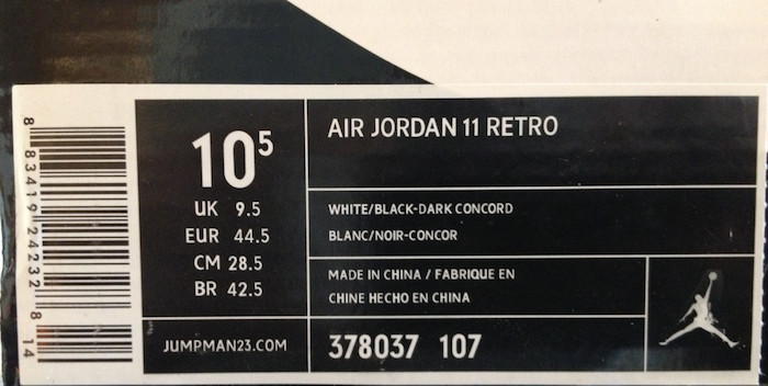 Nike Box Label Template 25 Ways to Tell if Your Jordan 11s are Fake or Real
