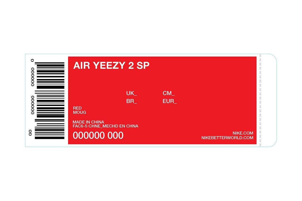 Nike Box Label Template Kanye Giving Away 50 Pairs Of Up Ing Red Nike Air Yeezy Iis
