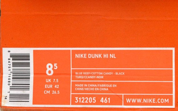 Nike Box Label Template Undefeated Undftd X Nike Dunk High Nl May 2005