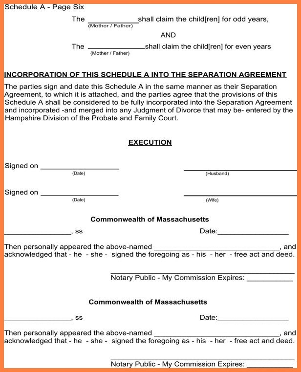 Notarized Custody Agreement Template Ideal Notarized