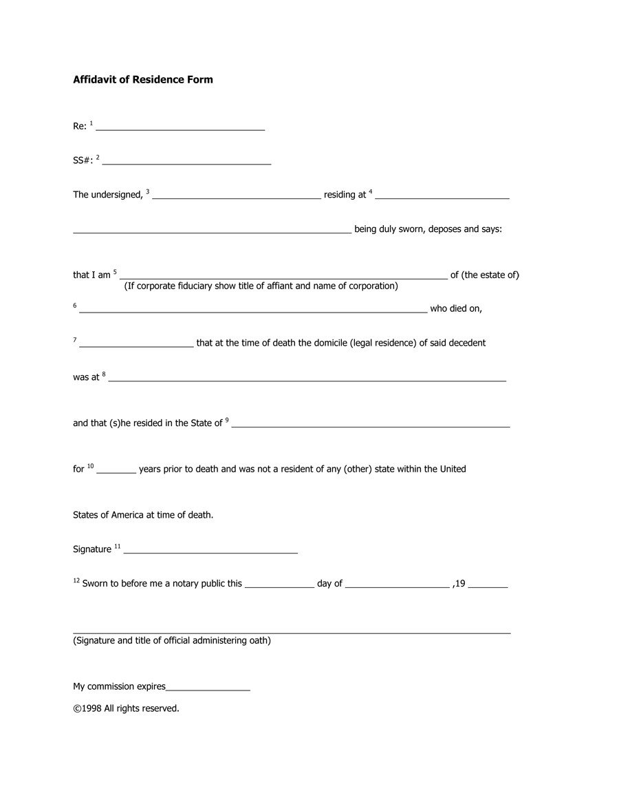 36 Proof Residency Letters from Family Member