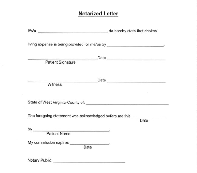 25 Notarized Letter Templates Sample Letters in Word