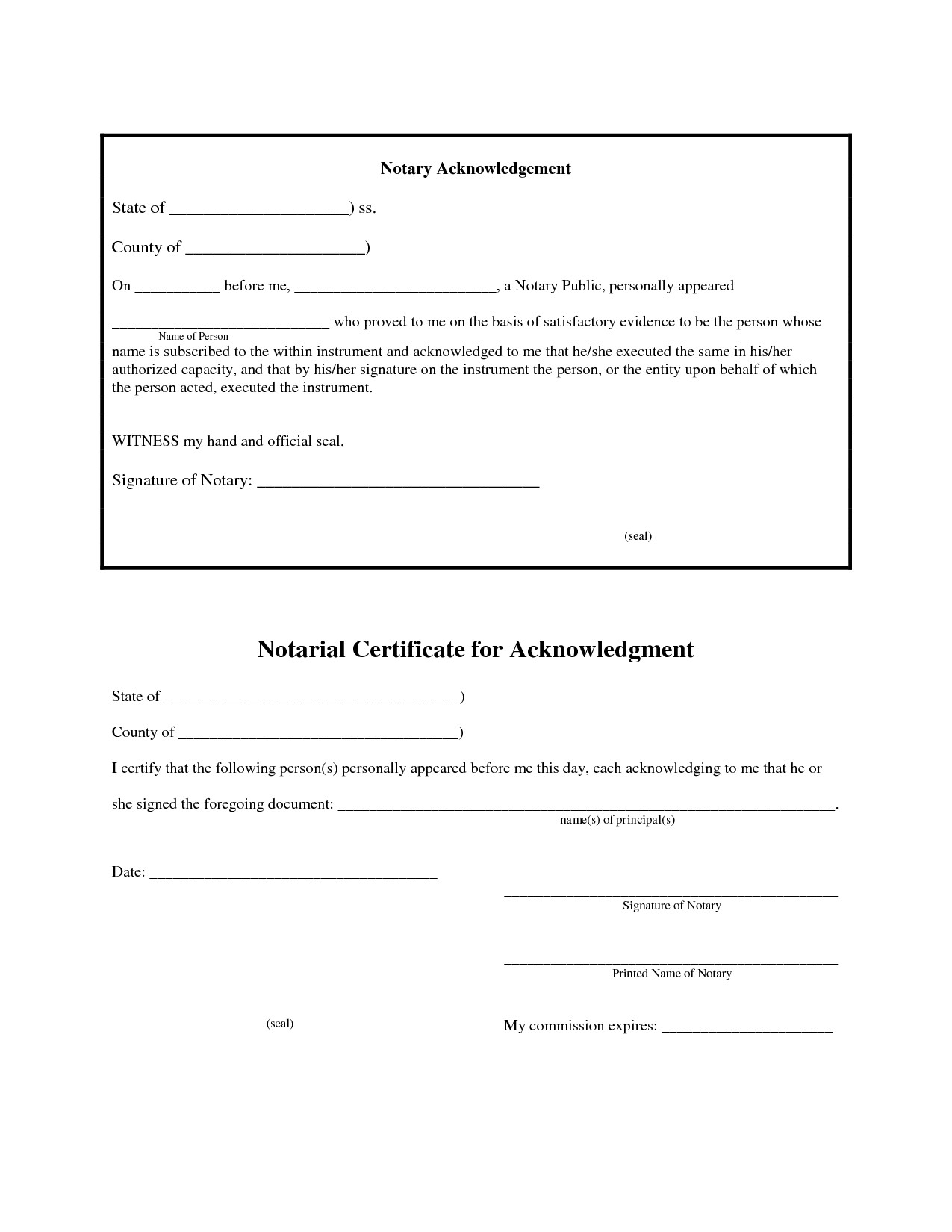 Notary Signature Block Template 12 Best S Of Jurat form 2012 Florida Notary