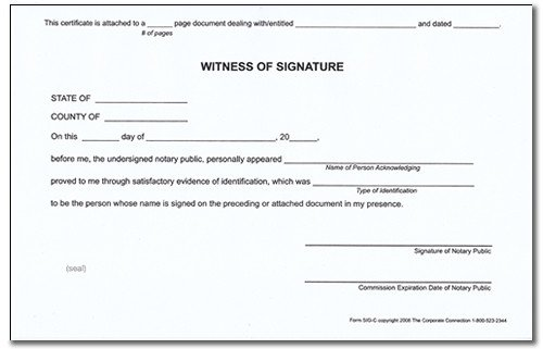 Notary Signature Block Template 30 Of In Witness Notary form Template