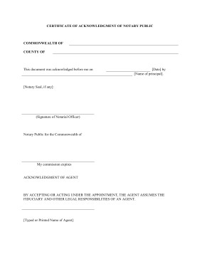 Notary Signature Block Template Printable Acknowledgement Of Notary Public Legal Pleading