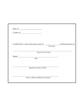 Notary Signature Block Template Printable Notary Copy Certification form Legal Pleading