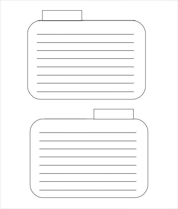 Note Card Template Free Index Card Template 8 Download Free Documents In Pdf