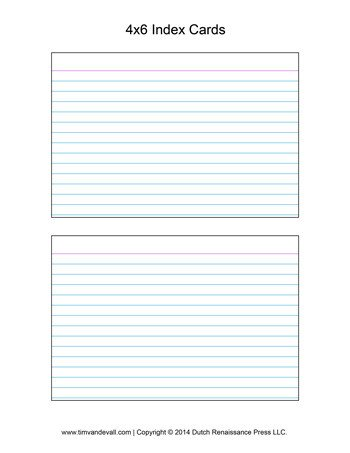 Note Card Template Free Printable Index Card Templates 3x5 and 4x6 Blank Pdfs