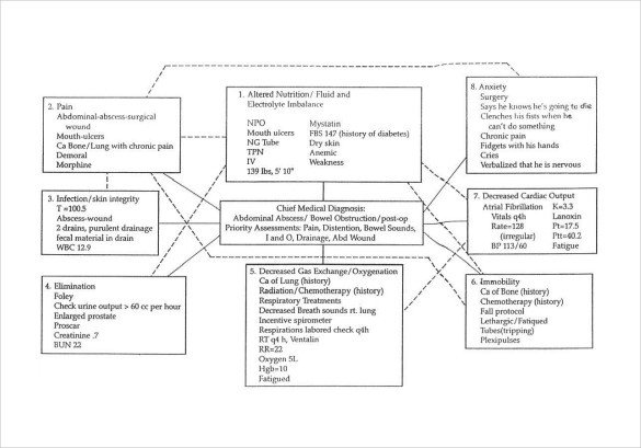 Nursing Concept Mapping Template Sample Concept Map Template 10 Free Documents In Pdf Word