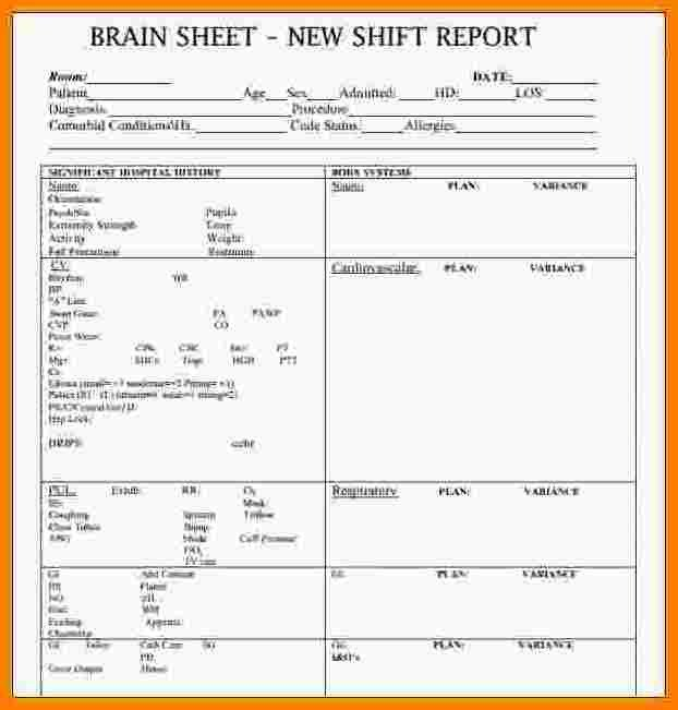 Nursing Shift Report Template 10 Shift Report Template