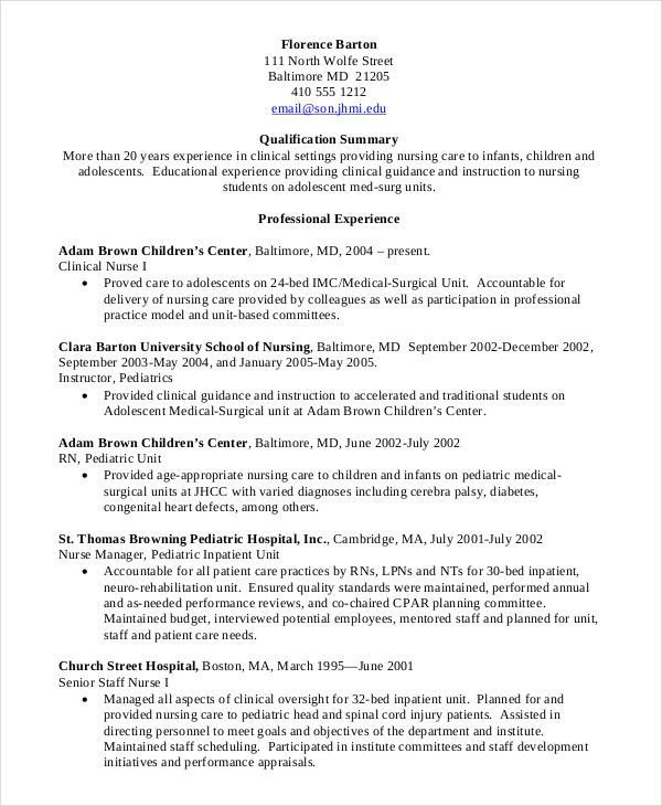 Nursing Student Resumes Examples Nursing Student Resume Clinical Experience