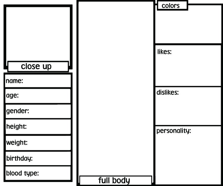 Oc Reference Sheet Template Blank Oc Ref Sheet by Sh3rryb3ar On Deviantart