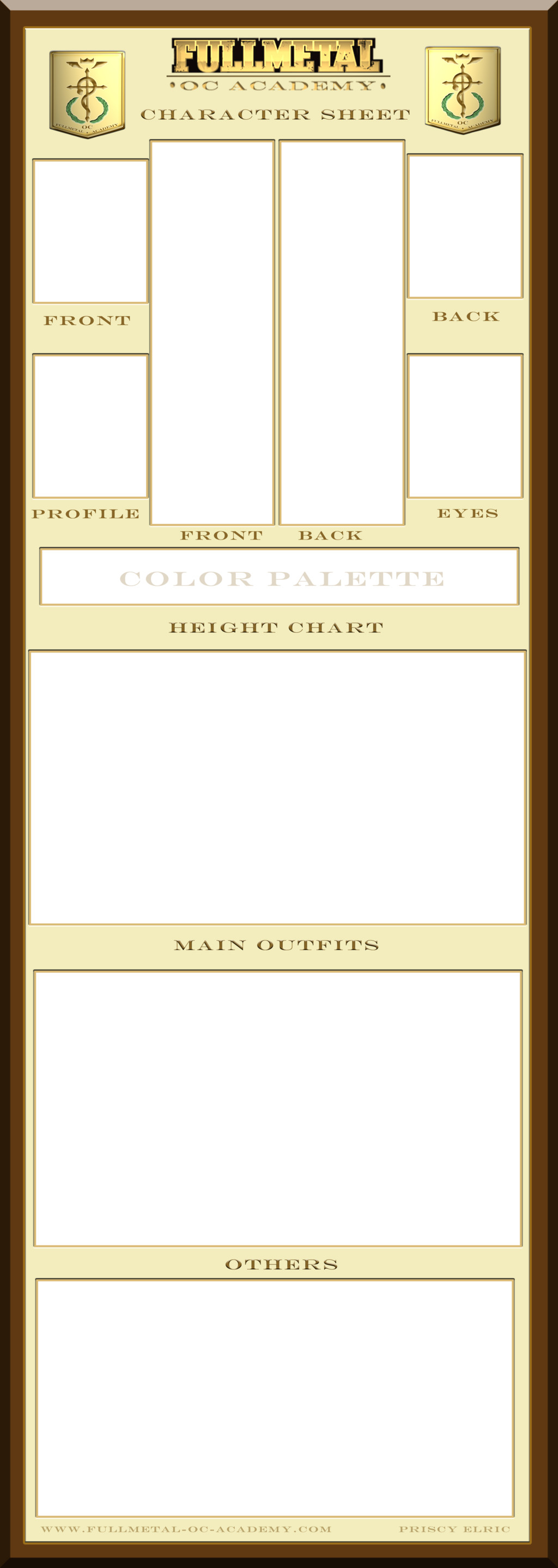 Oc Reference Sheet Template Fullmetal Oc Academy Character Sheet Template by Bitter