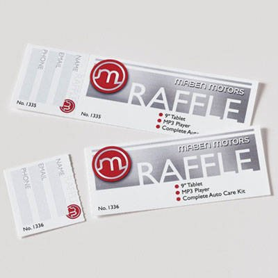 Office Depot Raffle Ticket Template Avery Printable Tickets 1 34 X 5 12 White Pack 200 by