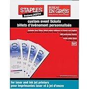Office Depot Raffle Ticket Template Staples Custom event Tickets