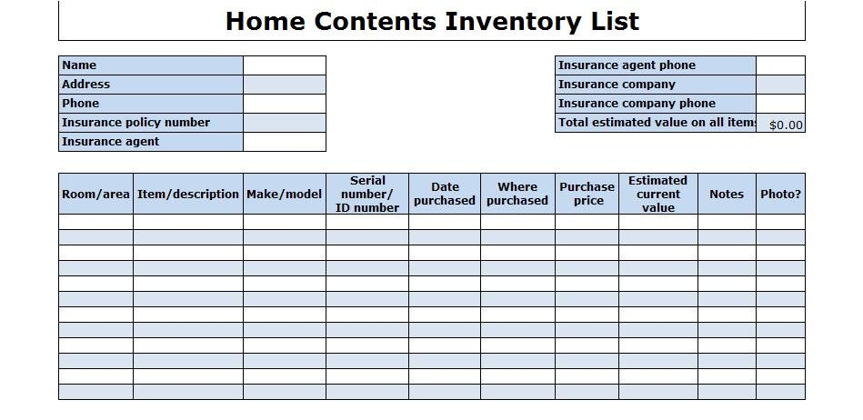 Office Supplies Inventory Template 29 Of Fice Furniture List Template