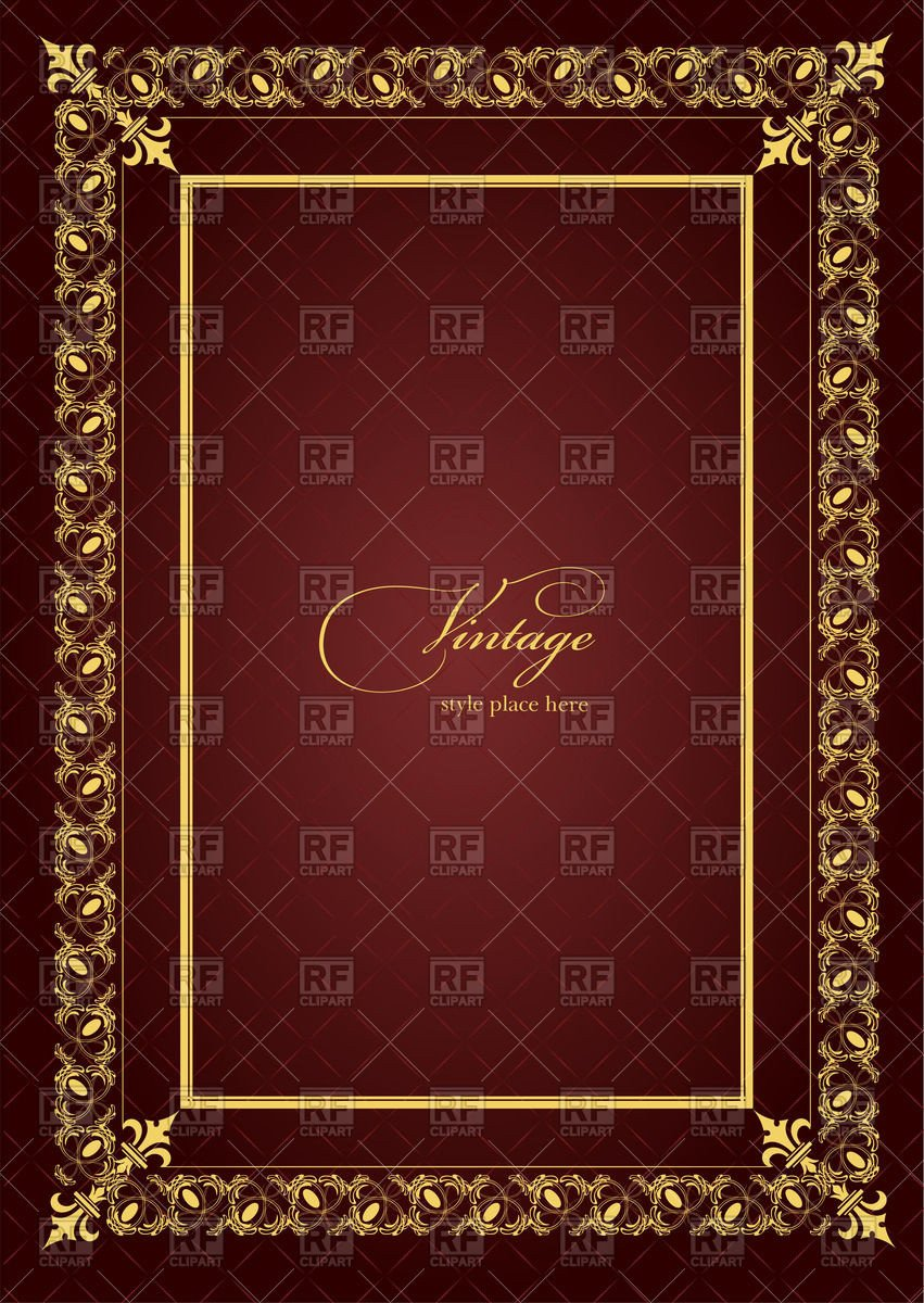 Old Book Cover Template theatrical Brochure or Book Cover Template with Golden