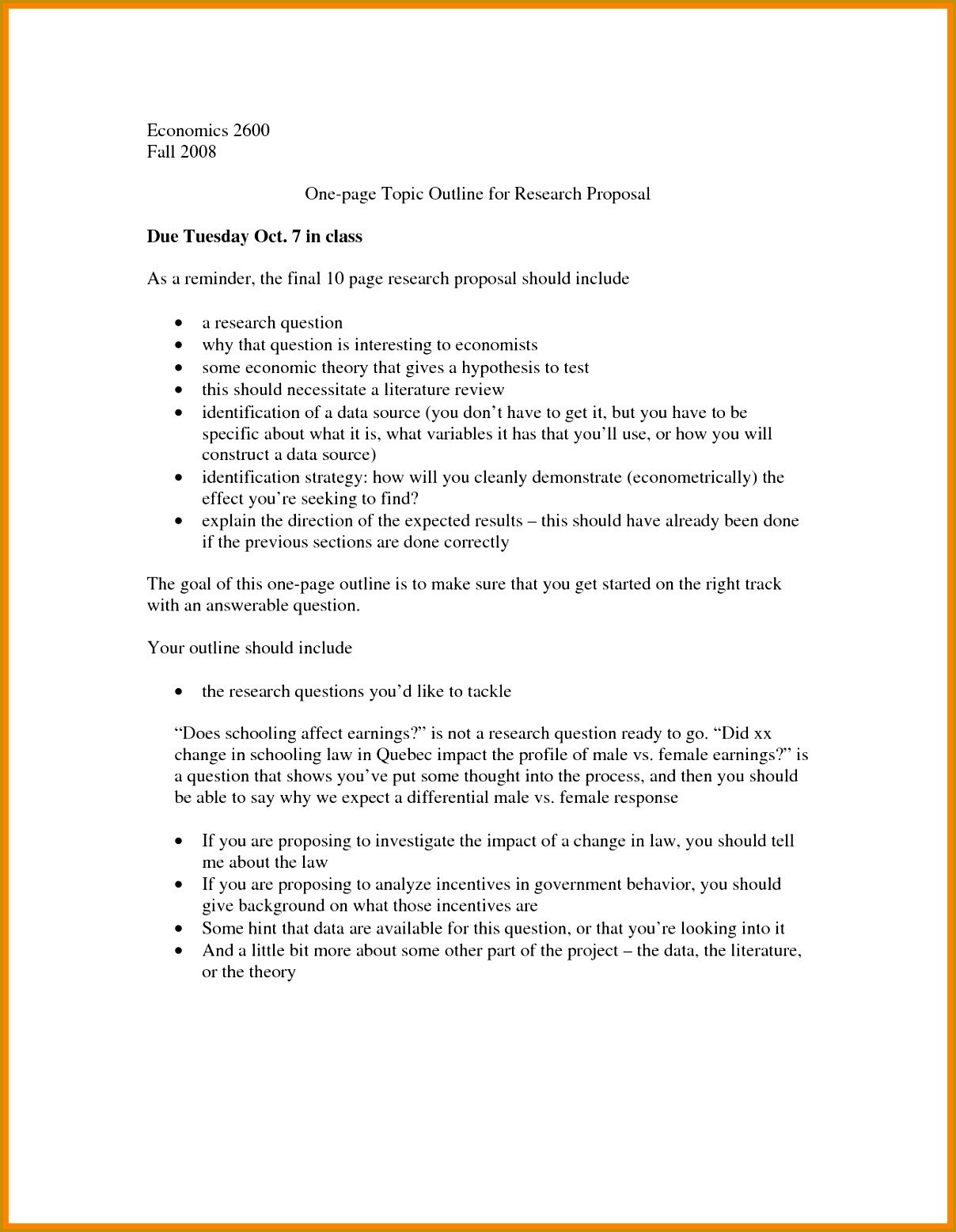 One Page Proposal Template 4 E Page Research Proposal Template