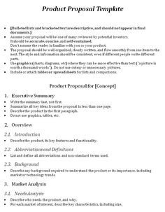 One Page Proposal Template E Page Proposal Template and Template