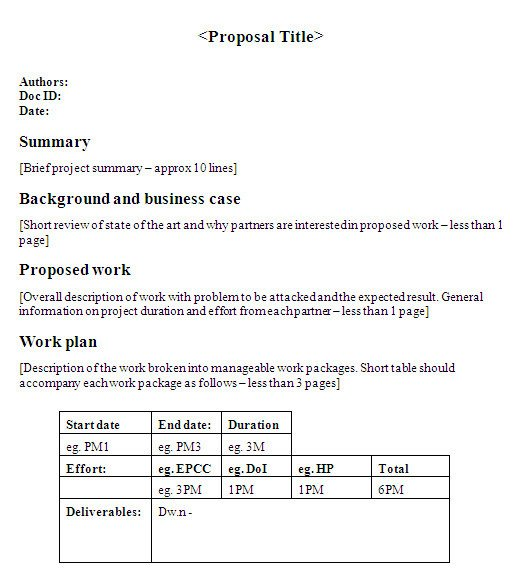 One Page Proposal Template Essay About Munity Service