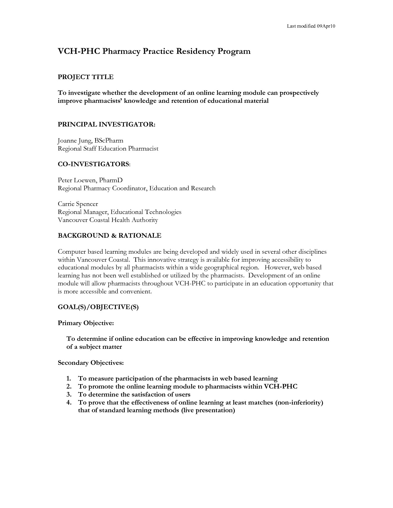 One Page Proposal Template Research Proposal How to Write One