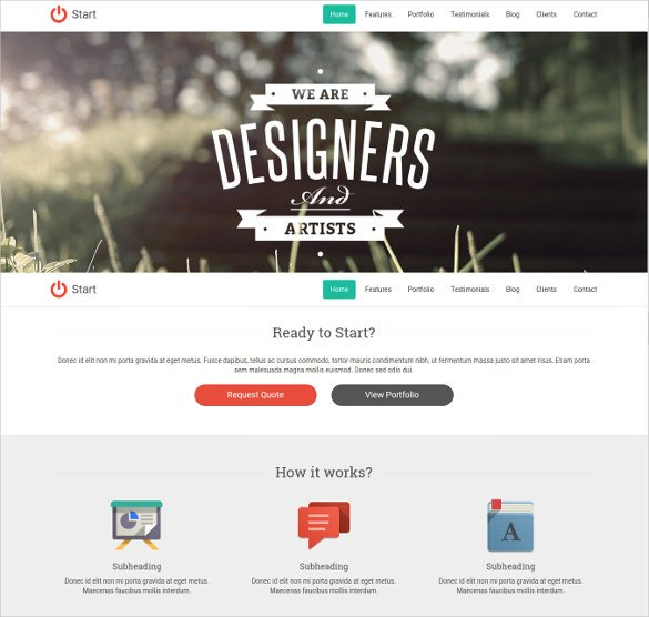 One Page Template Free 37 E Page Website themes & Templates