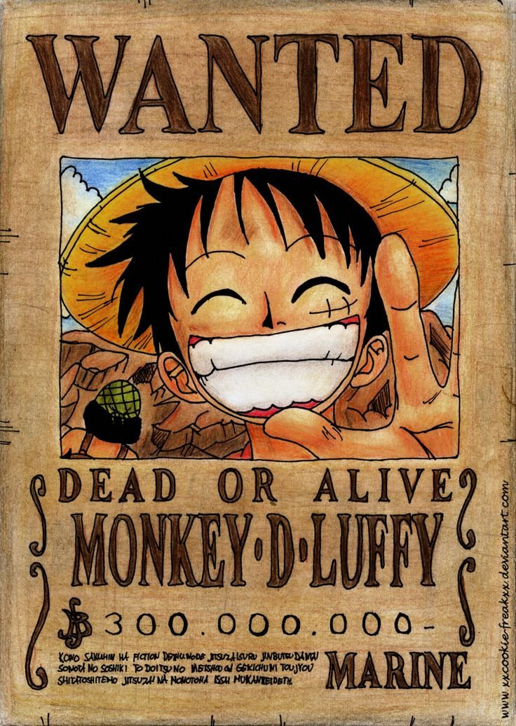 Luffy Wanted Poster Wallpaper Anime e Manga