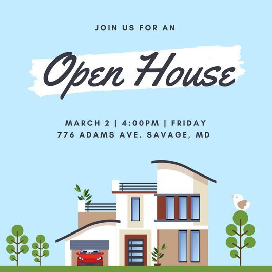 Customize 498 Open House Invitation templates online Canva