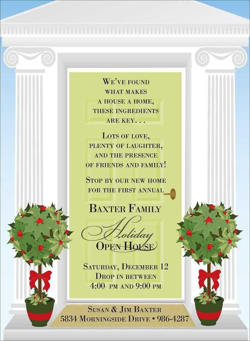 Open House Invite Templates Christmas Open House Invitations