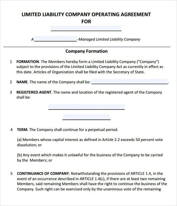 Operating Agreement 11 Free PDF Google DOC Apple