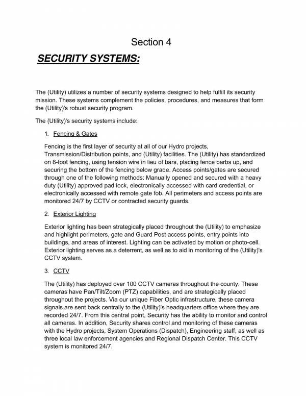 Opsec Plan Template 11 Security Operational Plan Samples & Templates Pdf Word