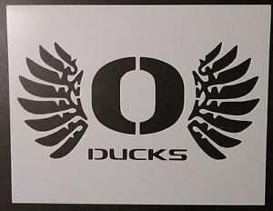 "Oregon Ducks Pumpkin Stencil oregon Ducks 11"" X 8 5"" Custom Stencil Fast Free Shipping"