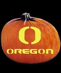 SpookMaster Oregon Ducks College Football Team Pumpkin