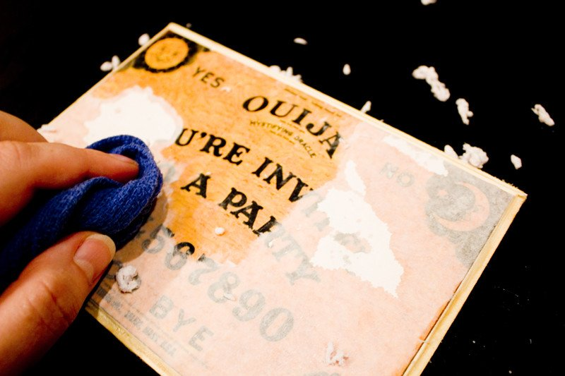 Ouija board party invitation
