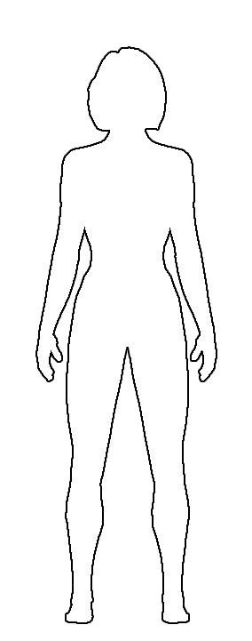 Outline Of A Human Free Clipart Girl Body Drawing Outline Clipground
