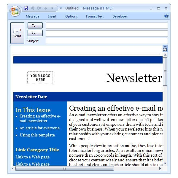 Outlook Email Newsletter Template Downloading the Best Free Artist Templates for Cool Fice