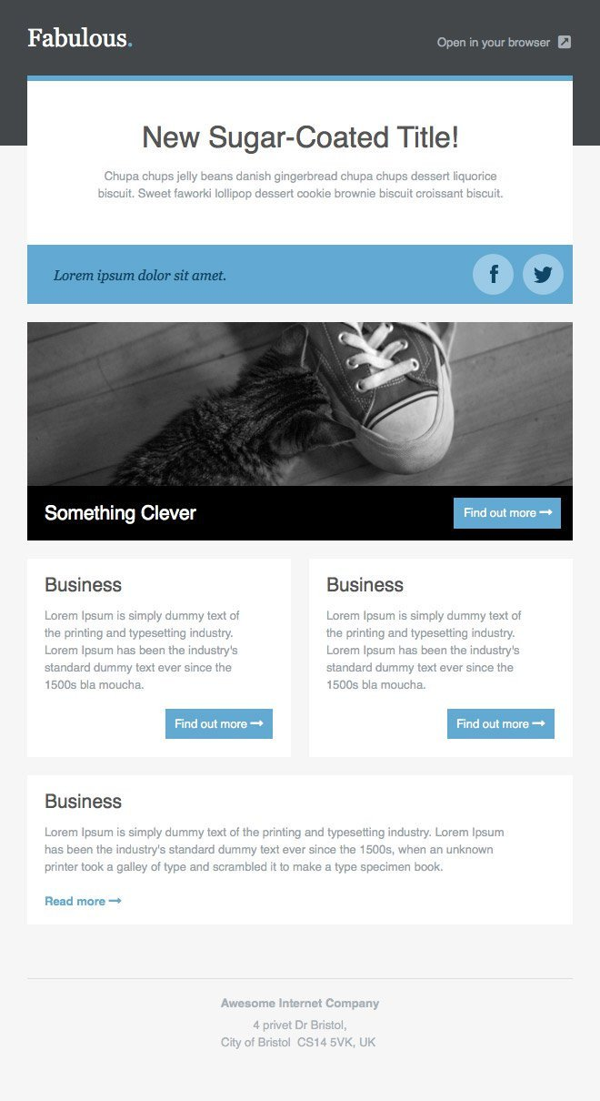 Outlook Email Newsletter Template Newsletter Templates Free Email Templates