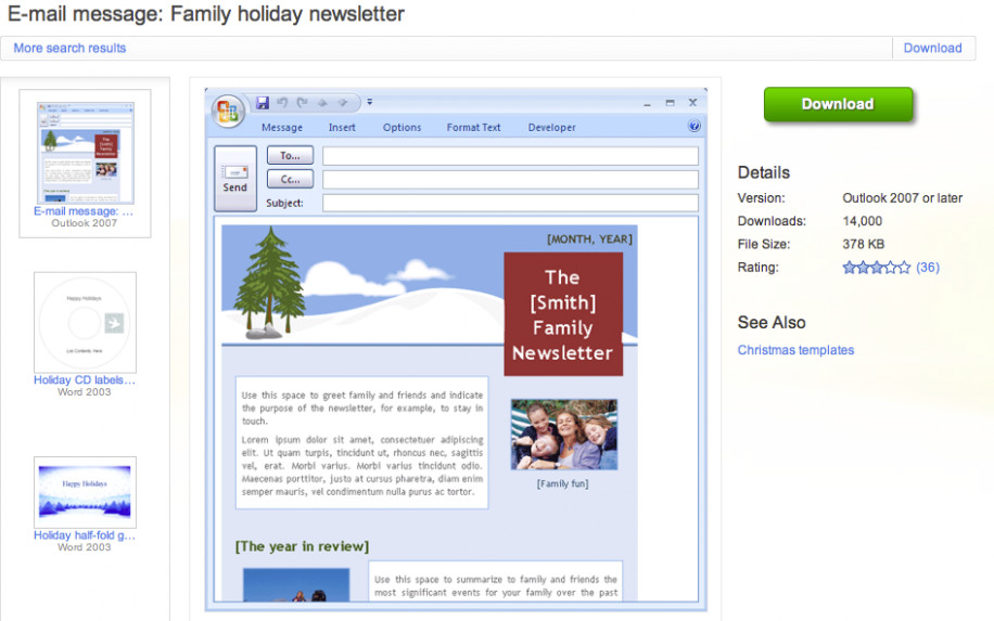 Outlook Email Newsletter Template Newsletter Templates Outlook