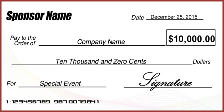 Oversized Check Template Free Abstract Business Presentation Check Signazon