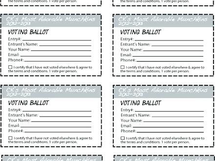 Pageant Entry form Template Ballot Template Excel – Munitycasts