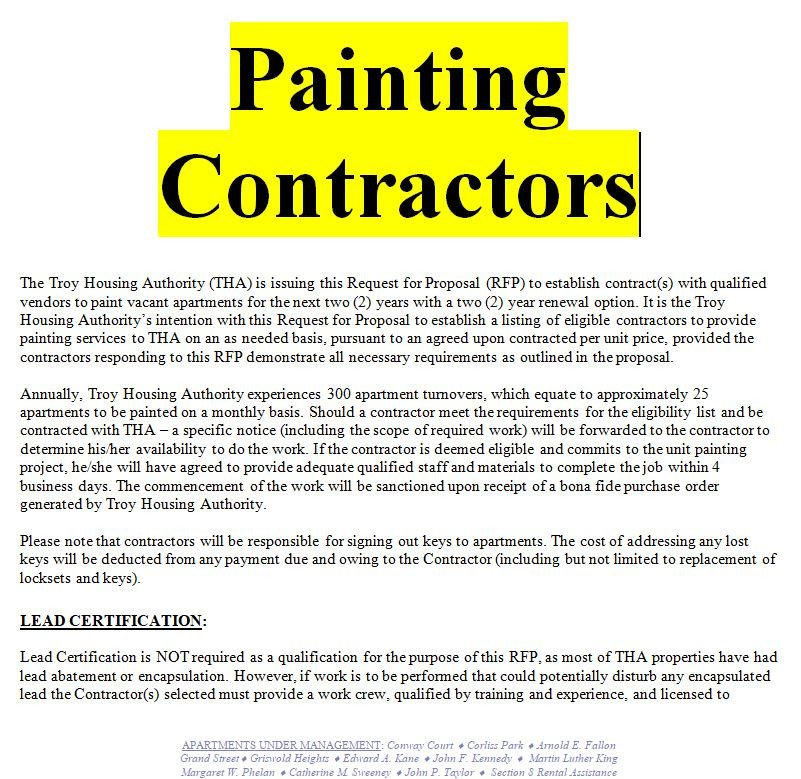 Painting Contract Template Free Download Example Of A Painting Contract Doc and Pdf Free