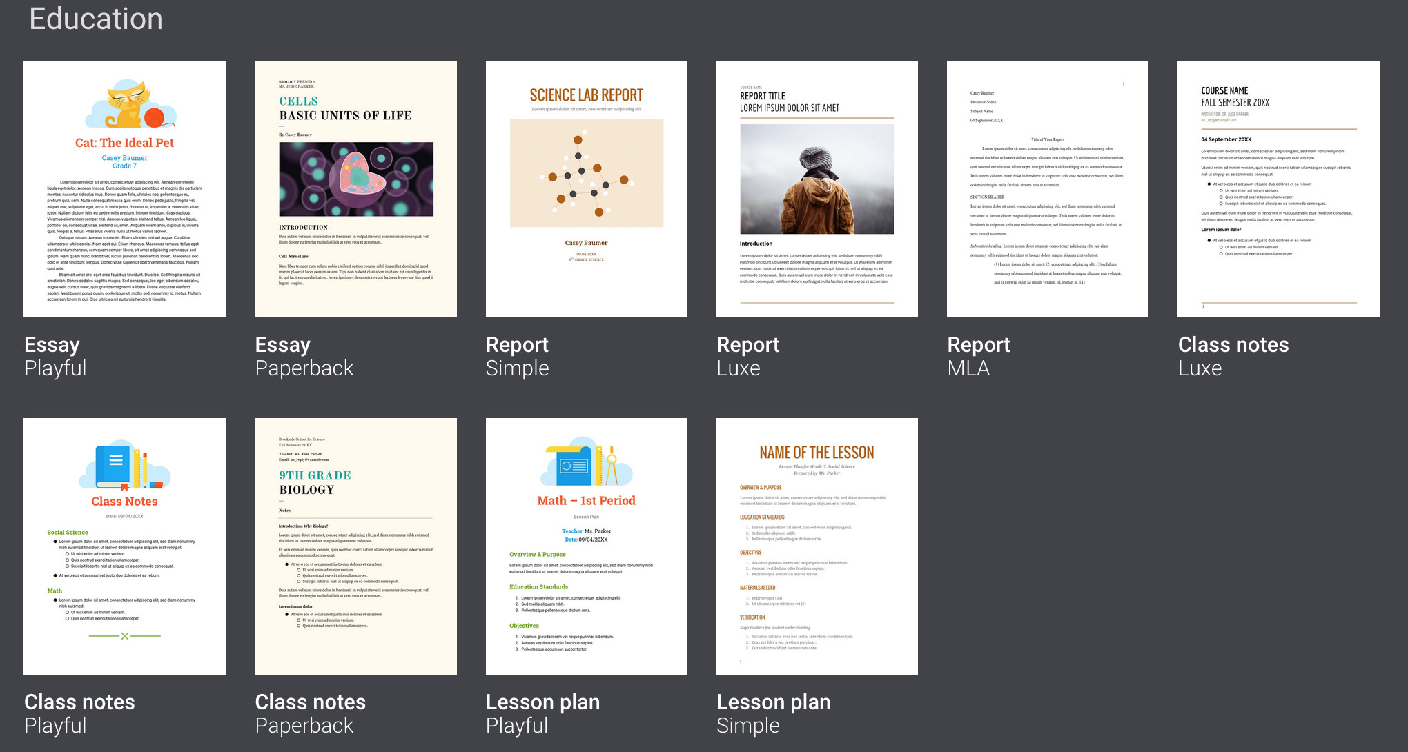 Google Docs Brochure Template File Free Download