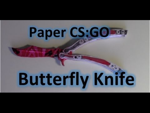Paper butterfly Knife Template How to Make Paper butterfly Knife Balisong From Cs Go