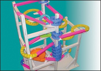 Paper Roller Coaster Templates Paper Roller Coasters Marble Tracks Made From Paper by