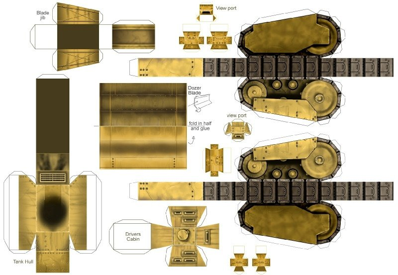 Papercraft Tank Template Alternaterealms Page 6