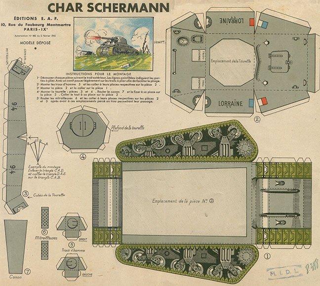 Papercraft Tank Template Chris Nielsen Updates A Sherman Tank Papercraft From 1944