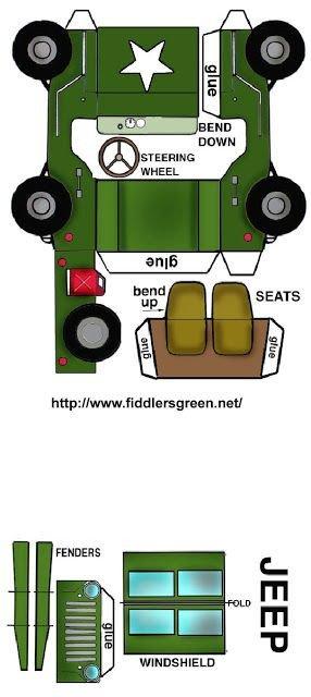 Papercraft Tank Template Desenhos Para Colorir Em Geral Paper toy