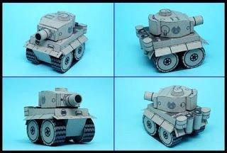 Papercraft Tank Template Mini Tiger Tank Papercraft Paperkraft Free