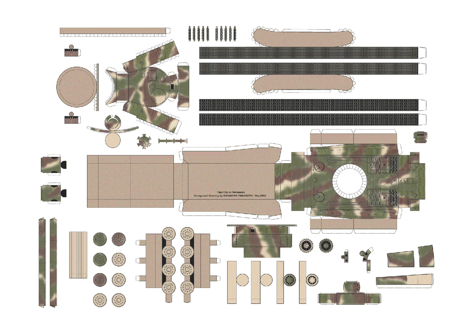 Papercraft Tank Template New Paper Tank Models Free
